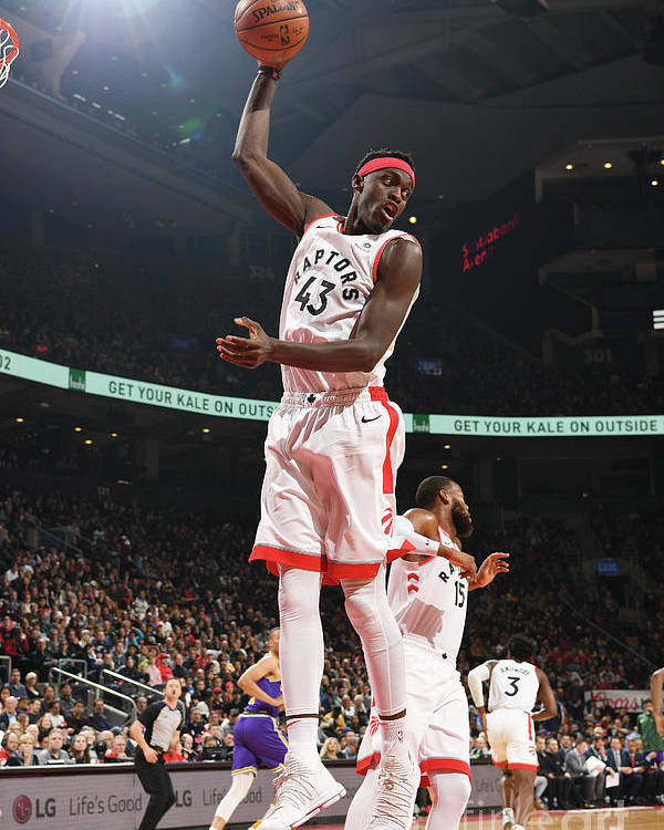 Nba Pro Basketball Poster featuring the photograph Pascal Siakam by Ron Turenne