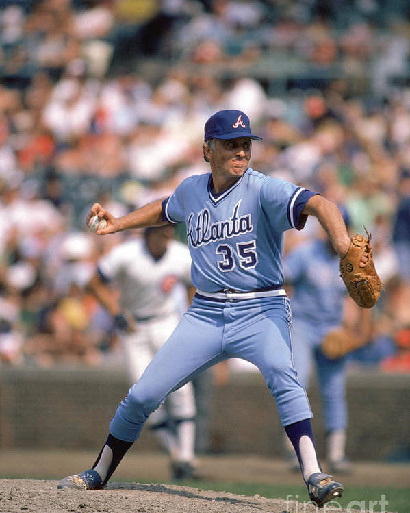 1980-1989 Poster featuring the photograph Phil Niekro by Rich Pilling