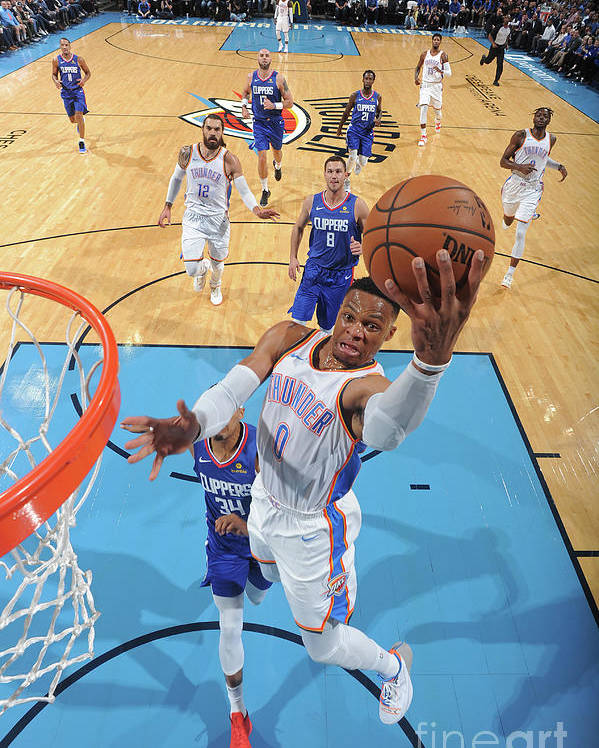 Nba Pro Basketball Poster featuring the photograph Russell Westbrook by Andrew D. Bernstein