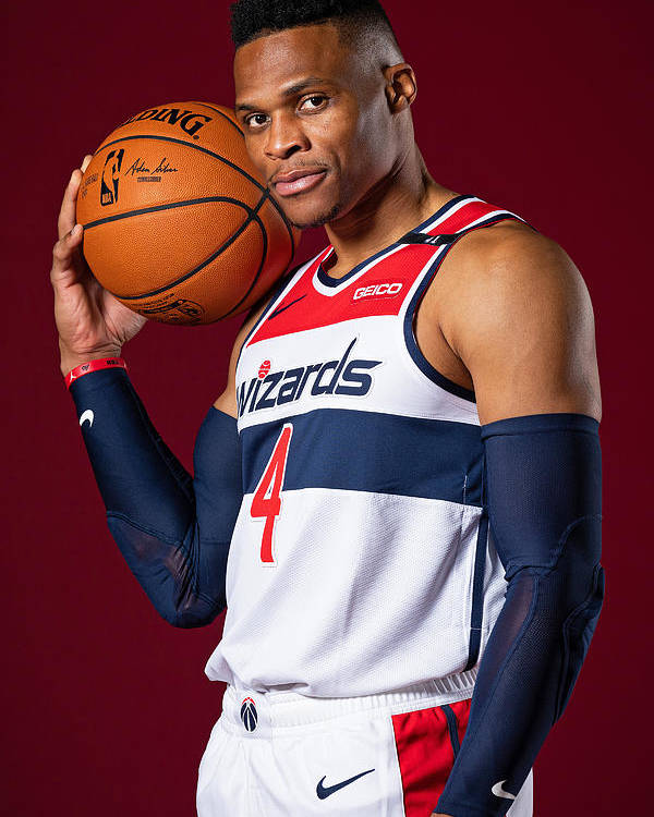 Media Day Poster featuring the photograph Russell Westbrook by Stephen Gosling
