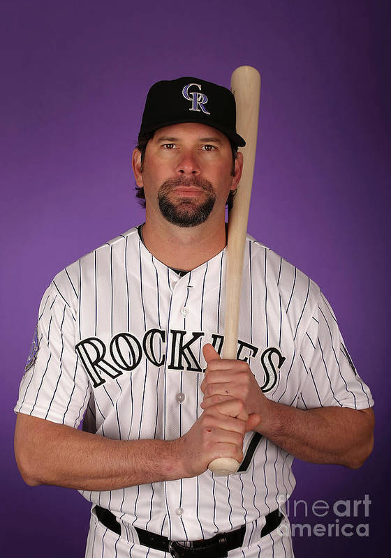 Media Day Poster featuring the photograph Todd Helton by Christian Petersen