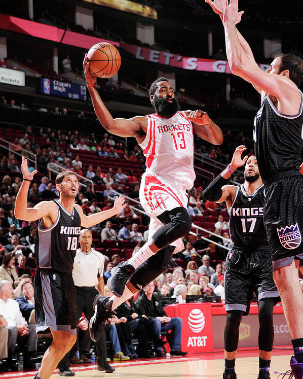 Nba Pro Basketball Poster featuring the photograph James Harden by Bill Baptist