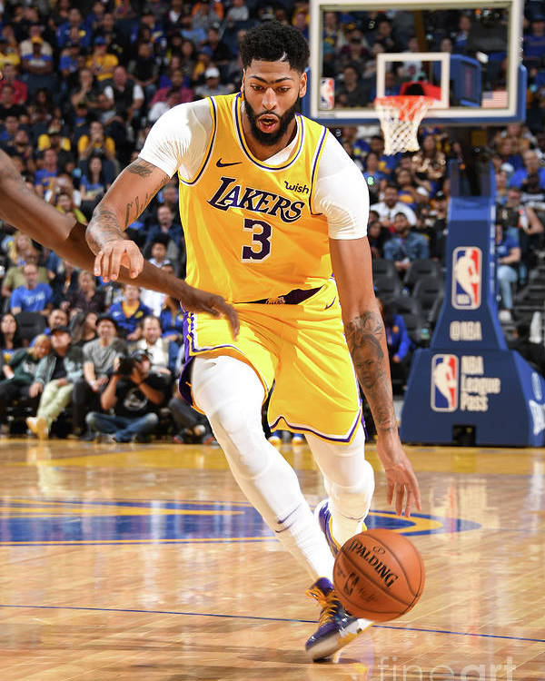 San Francisco Poster featuring the photograph Anthony Davis by Andrew D. Bernstein