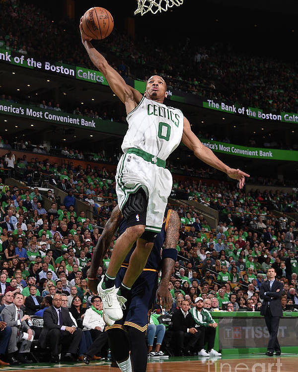 Playoffs Poster featuring the photograph Avery Bradley by Brian Babineau