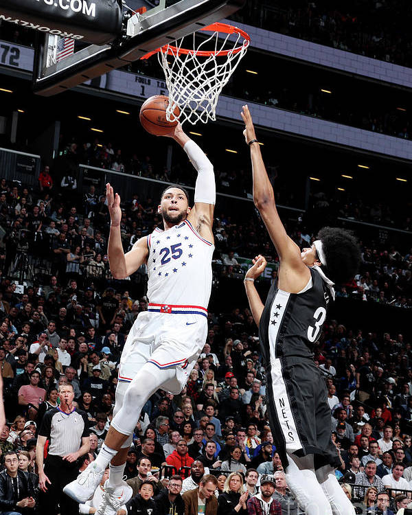 Playoffs Poster featuring the photograph Ben Simmons by Nathaniel S. Butler