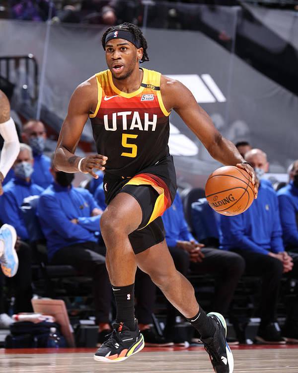 Nba Pro Basketball Poster featuring the photograph Dallas Mavericks v Utah Jazz by Melissa Majchrzak