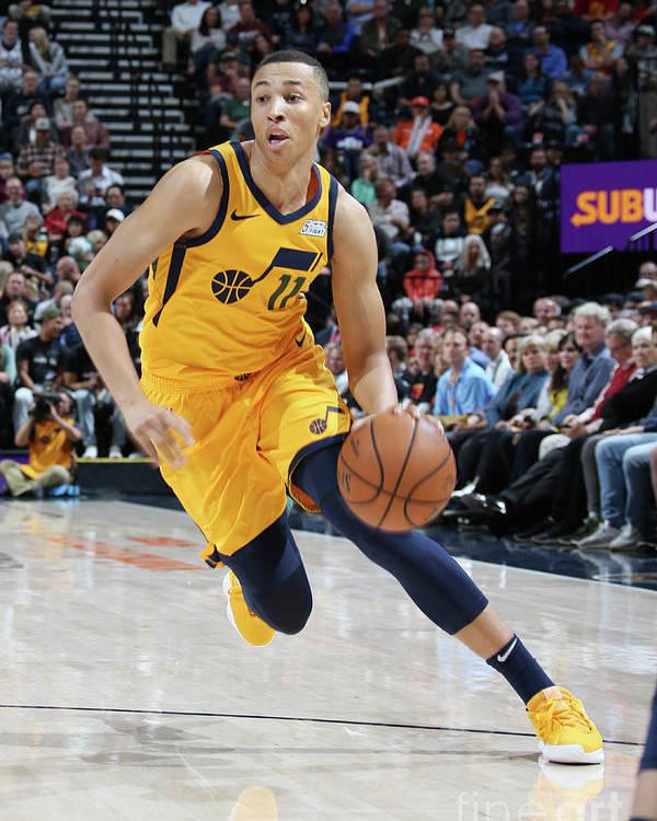 Nba Pro Basketball Poster featuring the photograph Dante Exum by Melissa Majchrzak