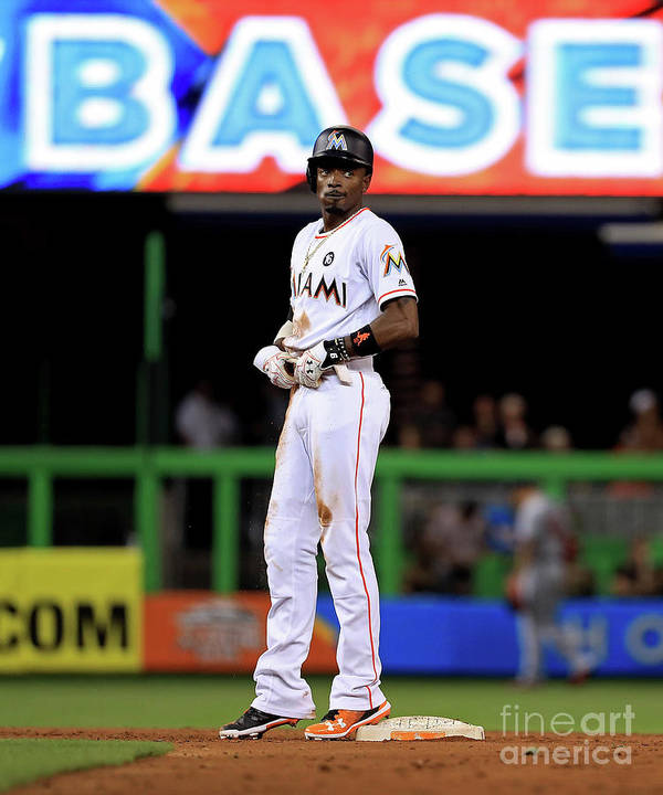 People Poster featuring the photograph Dee Gordon by Mike Ehrmann