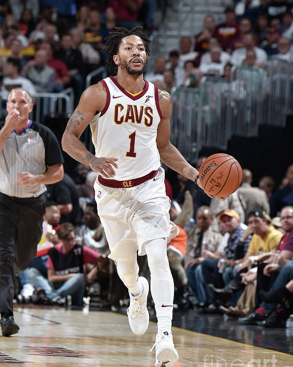 Nba Pro Basketball Poster featuring the photograph Derrick Rose by David Liam Kyle