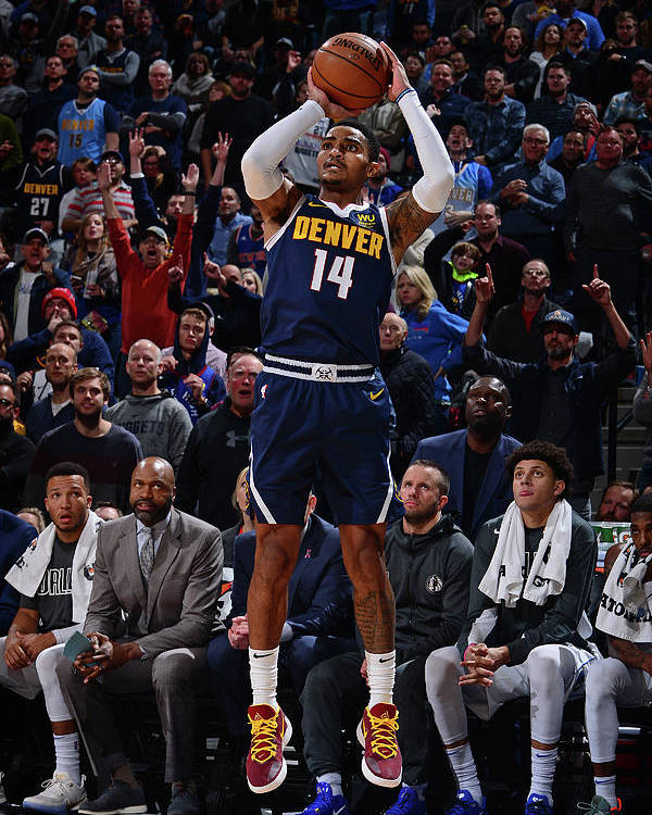 Nba Pro Basketball Poster featuring the photograph Gary Harris by Bart Young