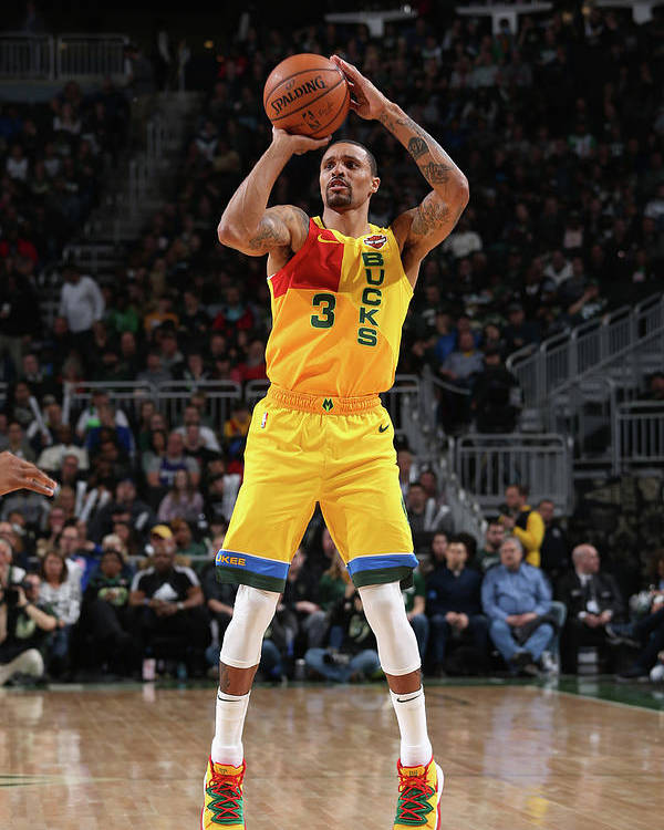 Nba Pro Basketball Poster featuring the photograph George Hill by Gary Dineen