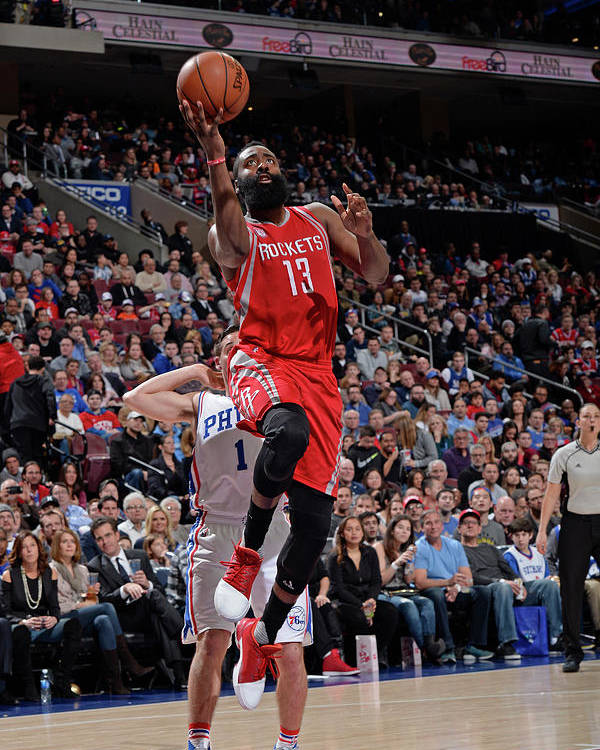 Nba Pro Basketball Poster featuring the photograph James Harden by David Dow