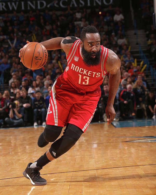 Nba Pro Basketball Poster featuring the photograph James Harden by Layne Murdoch