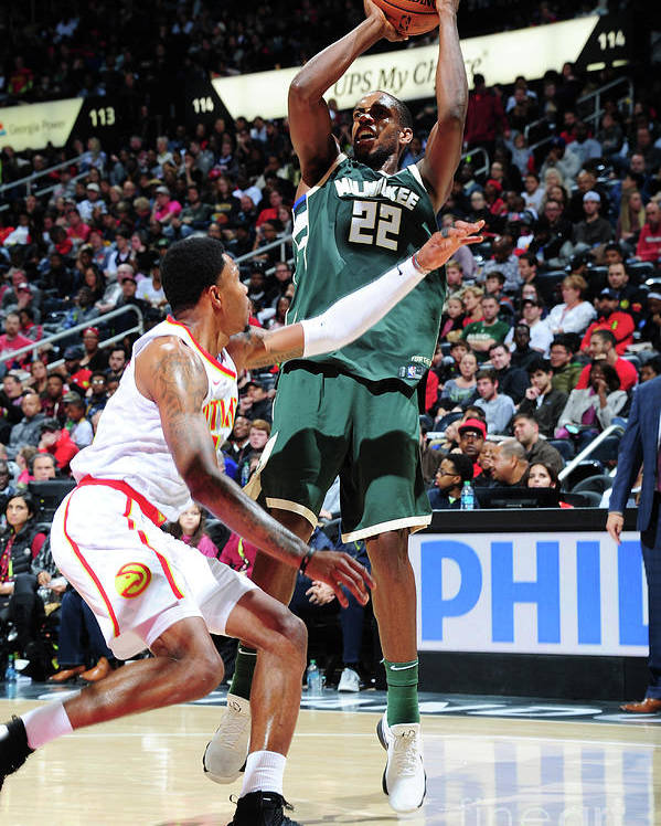 Atlanta Poster featuring the photograph Khris Middleton by Scott Cunningham