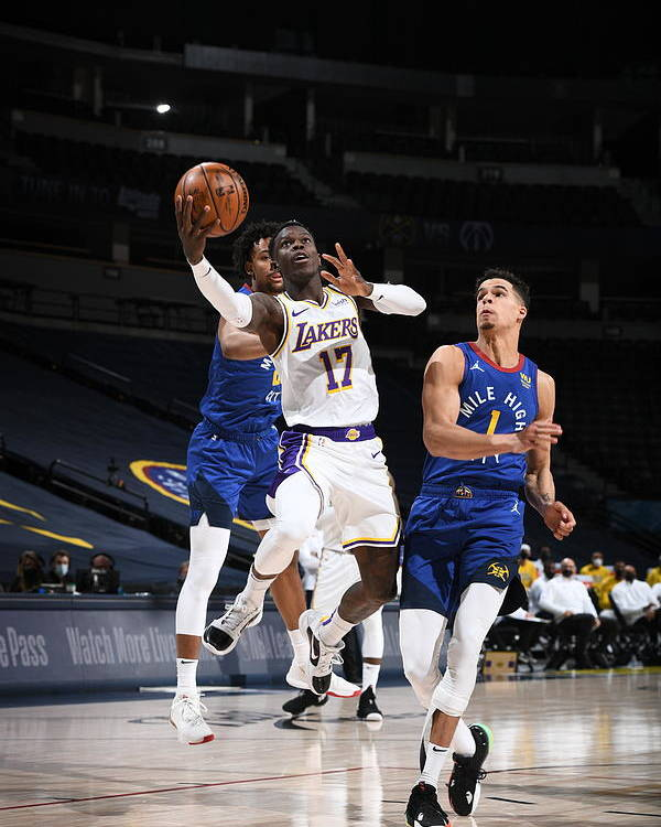 Nba Pro Basketball Poster featuring the photograph Los Angeles Lakers v Denver Nuggets by Garrett Ellwood