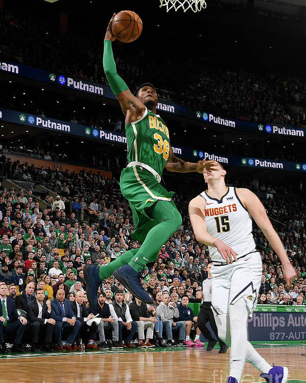 Nba Pro Basketball Poster featuring the photograph Marcus Smart by Brian Babineau