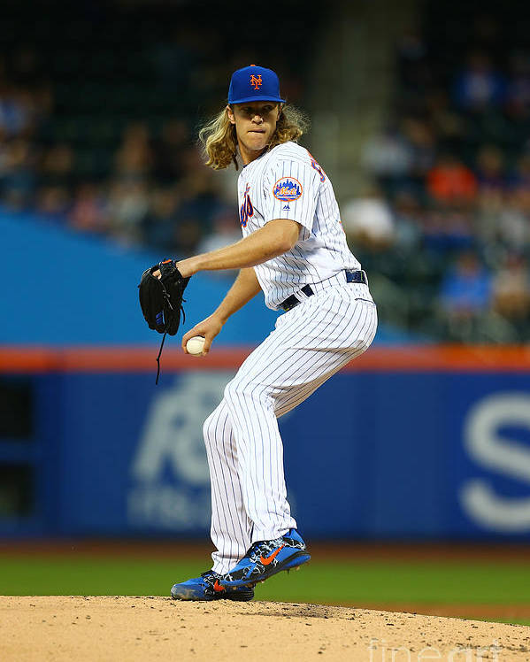 Second Inning Poster featuring the photograph Noah Syndergaard by Mike Stobe