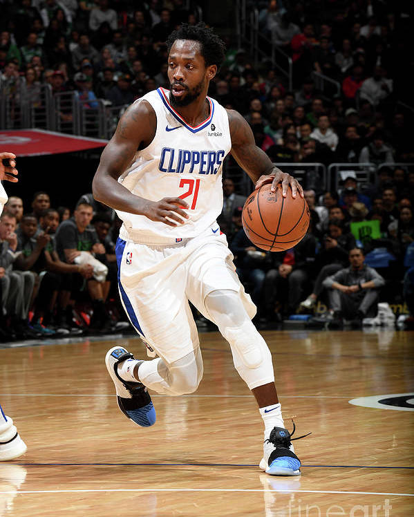 Nba Pro Basketball Poster featuring the photograph Patrick Beverley by Andrew D. Bernstein