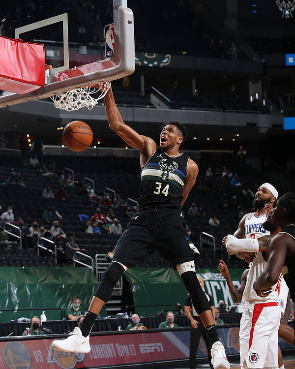 Nba Pro Basketball Poster featuring the photograph Giannis Antetokounmpo by Gary Dineen