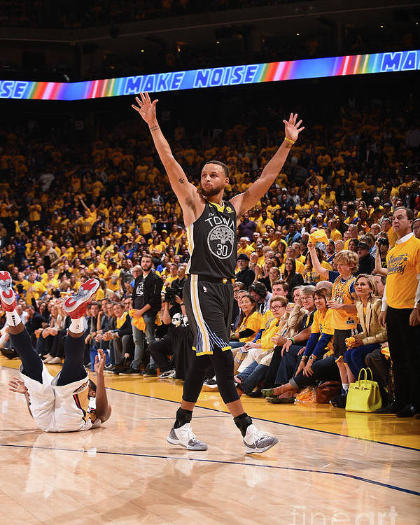 Playoffs Poster featuring the photograph Stephen Curry by Noah Graham