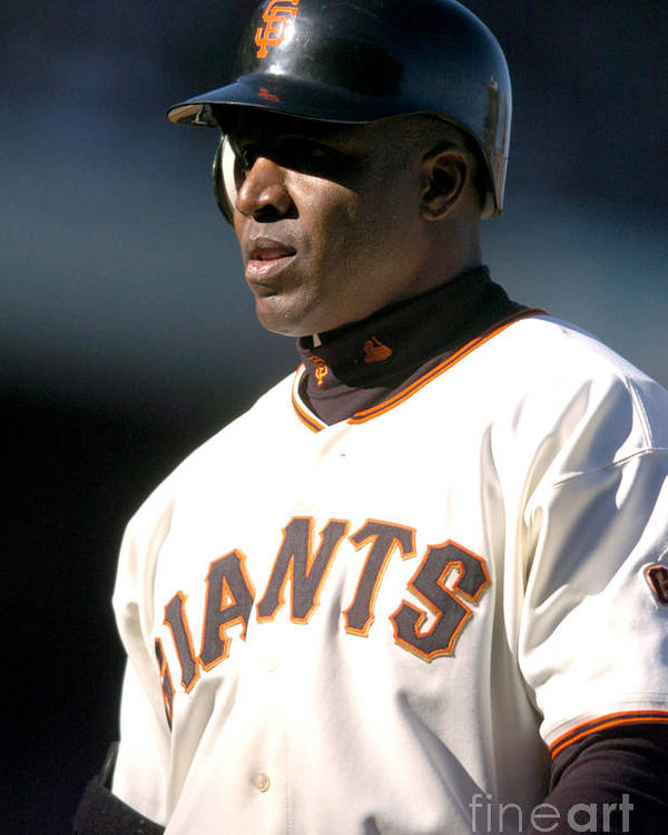California Poster featuring the photograph Barry Bonds by Kirby Lee