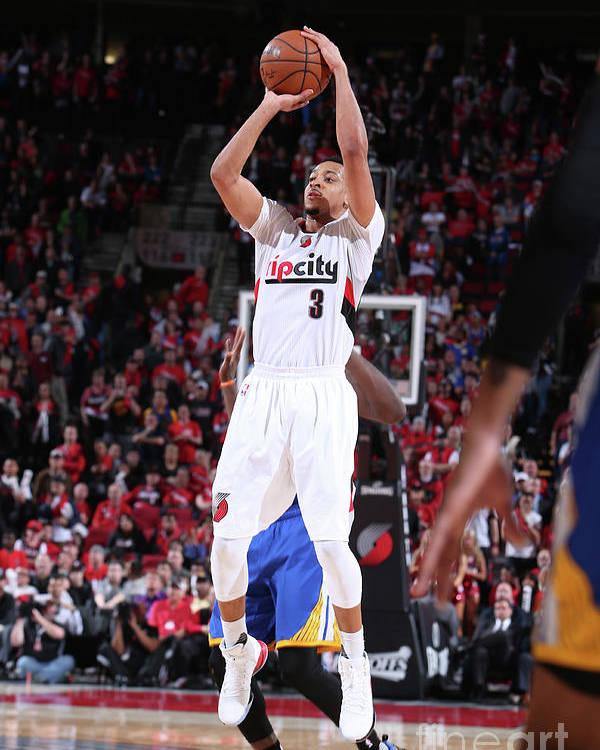 Playoffs Poster featuring the photograph C.j. Mccollum by Sam Forencich