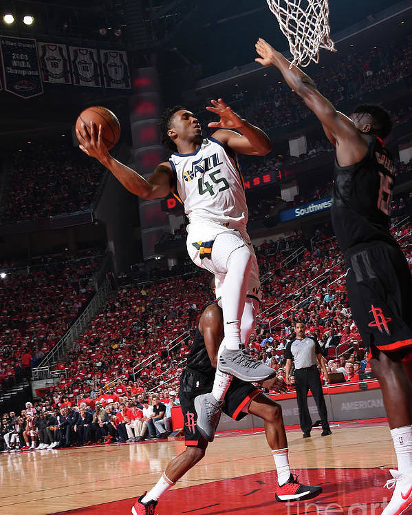 Playoffs Poster featuring the photograph Donovan Mitchell by Andrew D. Bernstein