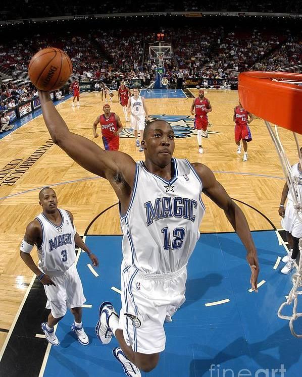 Nba Pro Basketball Poster featuring the photograph Dwight Howard by Fernando Medina