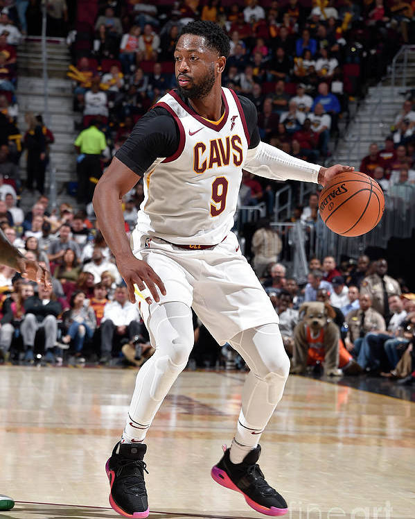 Nba Pro Basketball Poster featuring the photograph Dwyane Wade by David Liam Kyle
