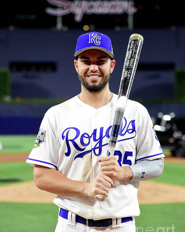Three Quarter Length Poster featuring the photograph Eric Hosmer by Harry How