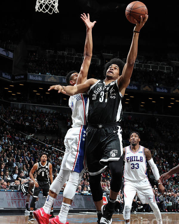 Nba Pro Basketball Poster featuring the photograph Jarrett Allen by Nathaniel S. Butler