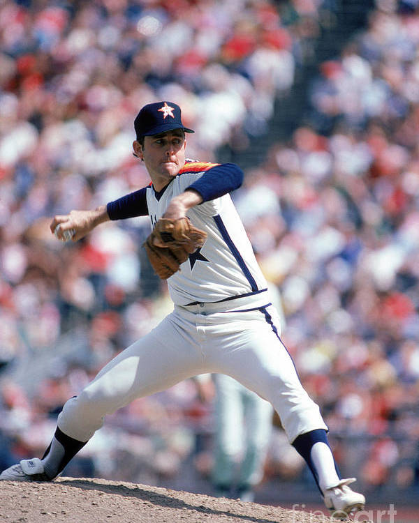 1980-1989 Poster featuring the photograph Nolan Ryan by Rich Pilling