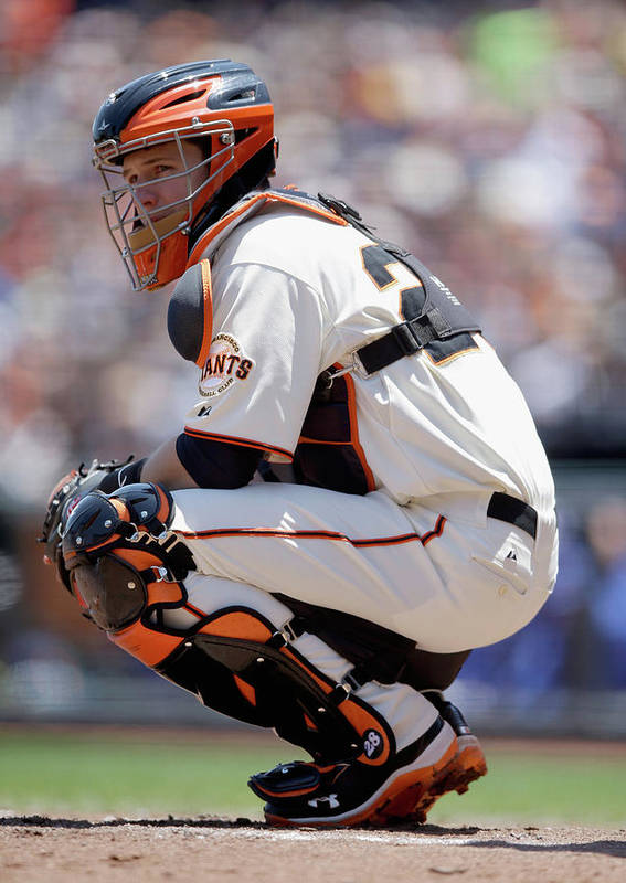San Francisco Poster featuring the photograph Buster Posey by Ezra Shaw