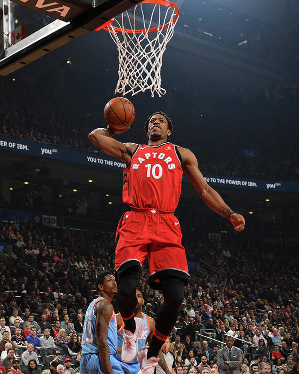 Nba Pro Basketball Poster featuring the photograph Demar Derozan by Ron Turenne