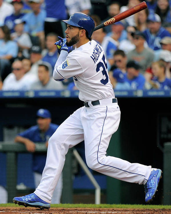 People Poster featuring the photograph Eric Hosmer by Ed Zurga