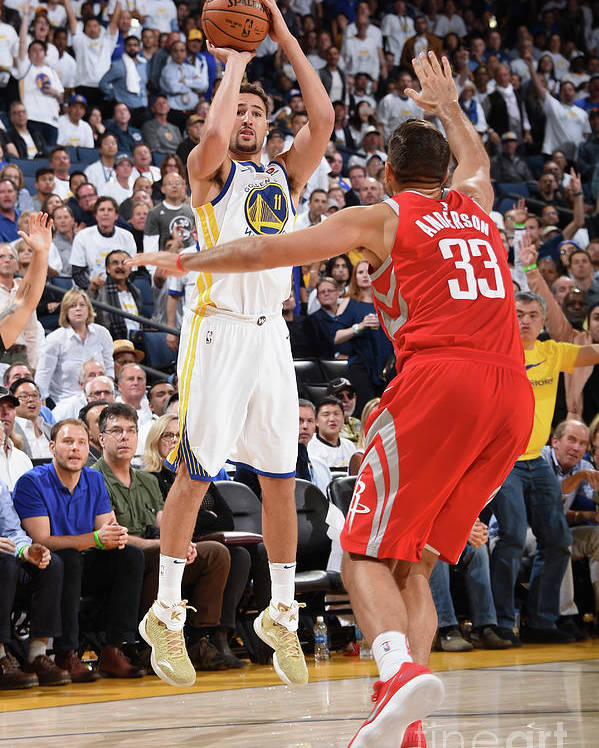 Nba Pro Basketball Poster featuring the photograph Klay Thompson by Andrew D. Bernstein