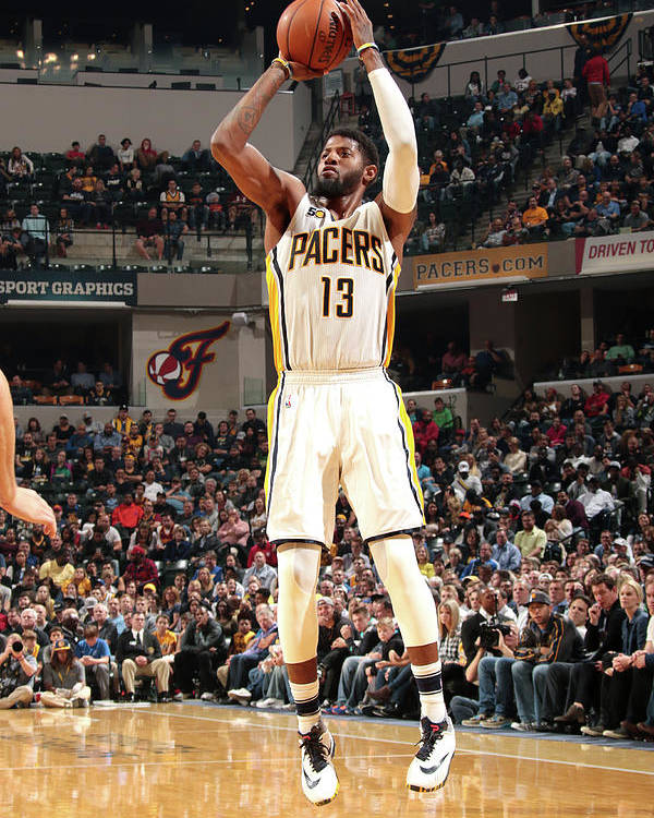 Nba Pro Basketball Poster featuring the photograph Paul George by Ron Hoskins