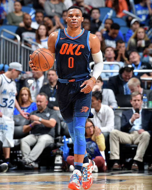 Nba Pro Basketball Poster featuring the photograph Russell Westbrook by Fernando Medina