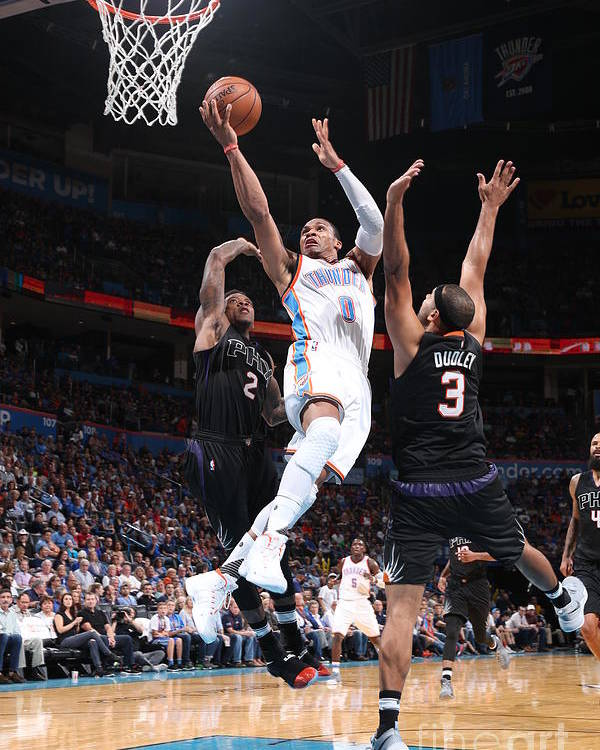 Nba Pro Basketball Poster featuring the photograph Russell Westbrook by Joe Murphy