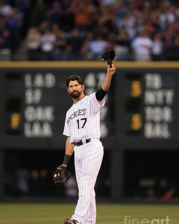 Crowd Poster featuring the photograph Todd Helton by Doug Pensinger