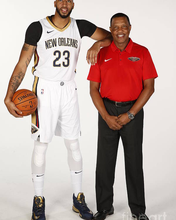 Media Day Poster featuring the photograph Anthony Davis by Jonathan Bachman