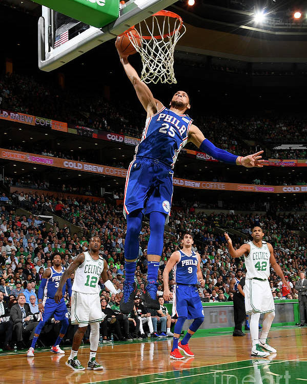 Playoffs Poster featuring the photograph Ben Simmons by Brian Babineau