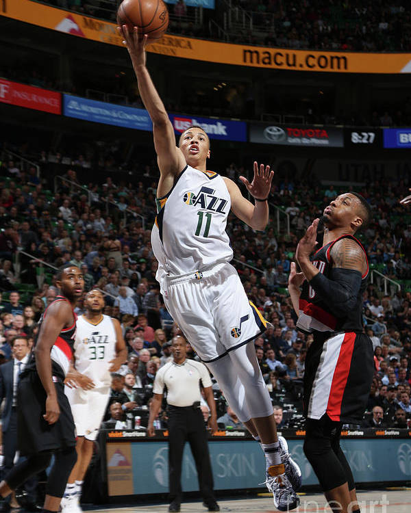 Nba Pro Basketball Poster featuring the photograph Dante Exum by Melissa Majchrzak