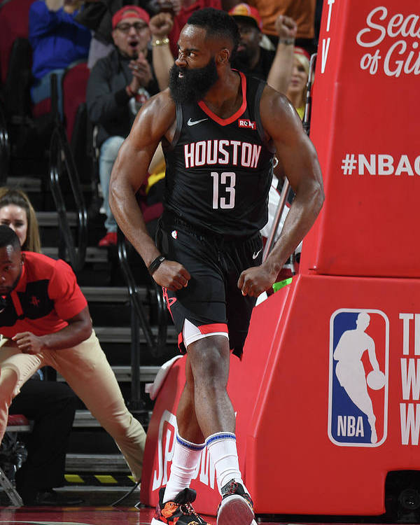 Nba Pro Basketball Poster featuring the photograph James Harden by Andrew D. Bernstein