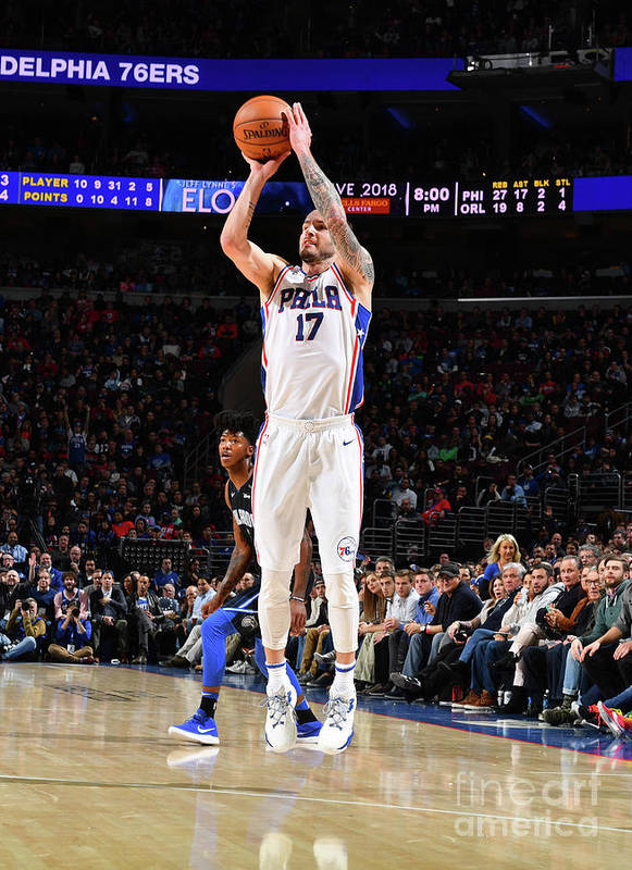 Nba Pro Basketball Poster featuring the photograph J.j. Redick by Jesse D. Garrabrant
