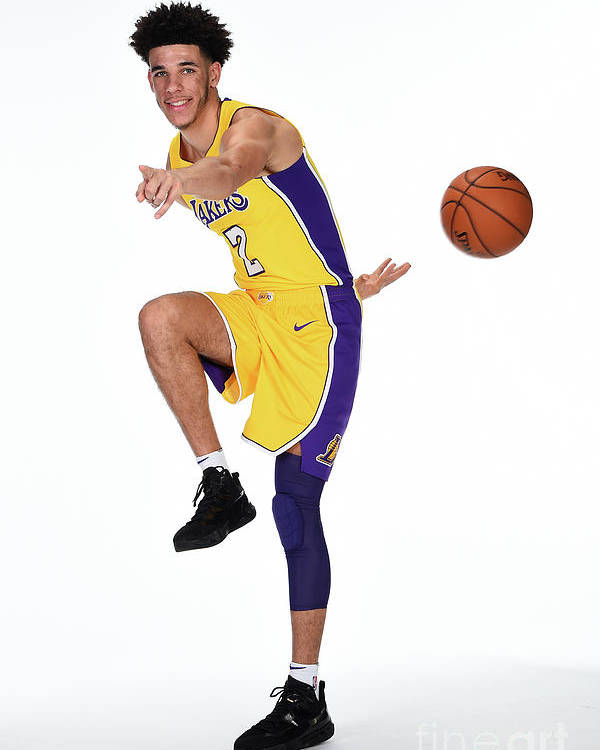 Media Day Poster featuring the photograph Lonzo Ball by Andrew D. Bernstein