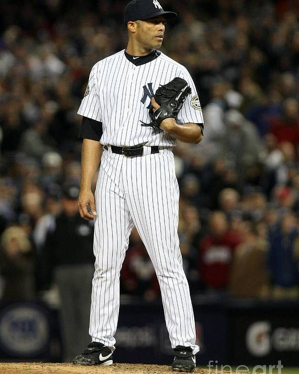 American League Baseball Poster featuring the photograph Mariano Rivera by Nick Laham