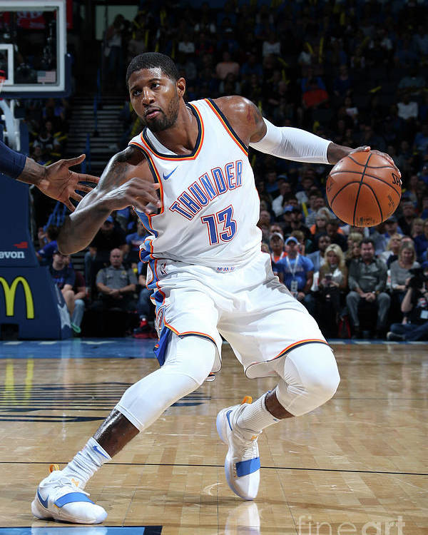 Nba Pro Basketball Poster featuring the photograph Paul George by Layne Murdoch