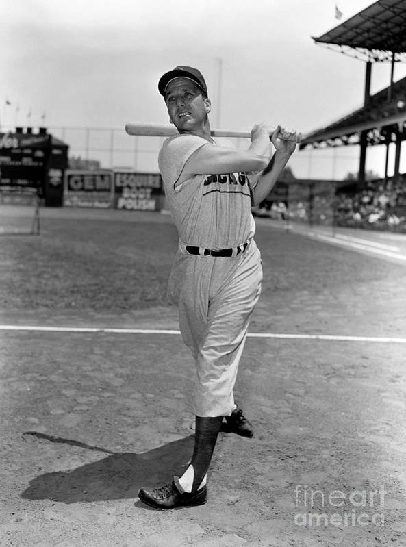 People Poster featuring the photograph Ralph Kiner by Kidwiler Collection