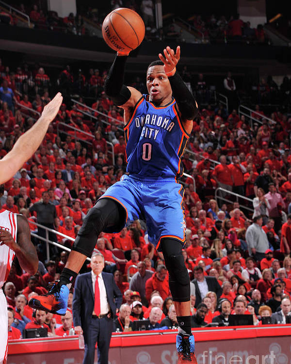 Playoffs Poster featuring the photograph Russell Westbrook by Bill Baptist